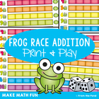 Frog Race Addition - Printable Math Game for Teaching Addition