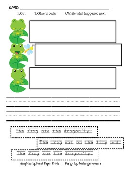 Frog Sequence Sentences