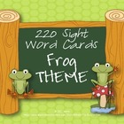 Frog Theme Sight Word Pack {For Games or Word Walls}