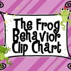 Frog Themed Behavior Chart