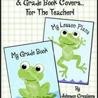 Frog Themed Grade Book & Lesson Plan Book Covers
