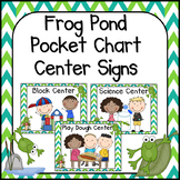 Frog Themed Pocket Chart  Center Cards
