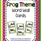 Frog Word Wall Cards