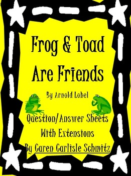 Frog and Toad Are Friends - Q&A Sheet, Activities & Worksheets