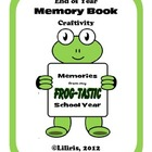 Frog - tastic Memory Book for the End of School Year