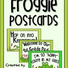 Froggie Themed Welcome Postcards {Frog Pond} Back to School