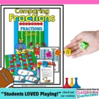 Froggy Football Fractions Game - comparing fractions