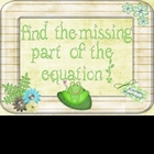 Froggy Missing Number Equations - Algebraic Thinking {Comm