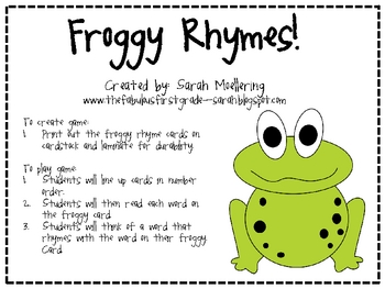 Froggy Rhymes