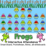 Frogs Interactive Attendance Sheet for Interactive Whiteboards