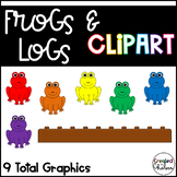 Frogs & Logs {Math Clipart for Commercial Use}