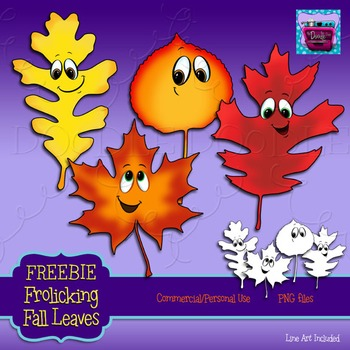 Frolicking Fall Leaves Clipart {Free Sample}