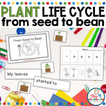 planting beans book, emergent reader, plants, kindergarten