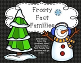 Frosty Fact Families Math Center, Stations, and Tubs