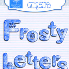 Frosty letters Alphabet {FREE PAPERS INCLUDED}