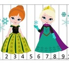 Frozen themed Number Sequence Puzzle #2.  Early math activ