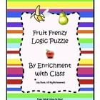 Fruit Frenzy Logic Puzzle for K-2 (Critical Thinking, Gift