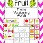 Fruit Vocabulary Cards