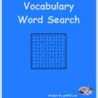 Frutas y verduras (Fruits and Vegetables in Spanish) wordsearch