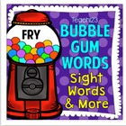 Fry Word List - Bubble Gum Words - Editable