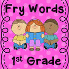 Fry Word cut out Word Wall 1st Grade