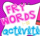 Fry Words 1-100 Activity Mega Pack
