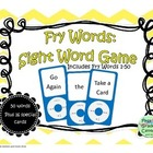 Fry Words 1-50: Sight Word Game