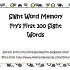 Frys First 100 Sight Words - Memory