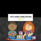 Frys Sight words second 25 words Set 2