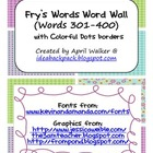 Fry's Word Wall Cards (Words 301-400)  with Purple, Blue,
