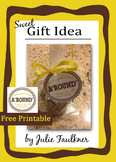 Thank You Gift {Fudge Round Cookie Gift Tag} For Parent/Te
