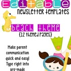 Editable Newsletter Templates (12 included): Fun Beach Theme