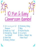 Fun & Easy Games For Your Classroom