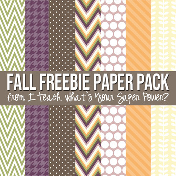 Fun Fall Freebie Digital Paper Pack