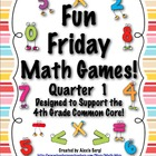 Fun Friday Math Games - Quarter 1