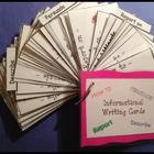 Fun Informational Writing Cards