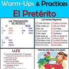 Fun Spanish Preterite Verb Tense Warm-Ups and Practices /