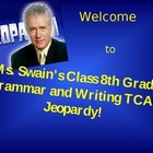 Fun TCAP State Testing Grammar Writing Jeopardy Game - 130 Slides