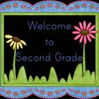 Fun and Flowery Welcome Signs ~Black Background