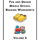 Fun and Unique Middle School Reading Worksheets - Volume 2