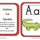Fun dots: Alphabet wall border in red