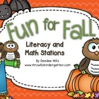 Fun for Fall Literacy and Math Stations-Common Core