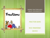 Fun with Adding Fractions Bundle