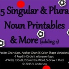 Fun with Singular & Plural Nouns Printables
