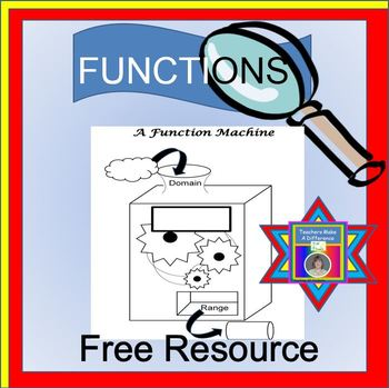 Functions Freebie {function notation - function machine - evaluate functions]