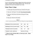 Fundations Level 1 Weekly Dictation Homework First Edition
