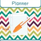 Funky Chevron Teacher Planner - FREEBIES in Preview!