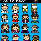 Funny Friends 11 Clipart Collection- Back to School!