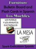 Furniture Bulletin Board and Flash Cards in Spanish