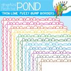 Fuzzy Bump Borders THIN - Clipart Frames for Teaching Files